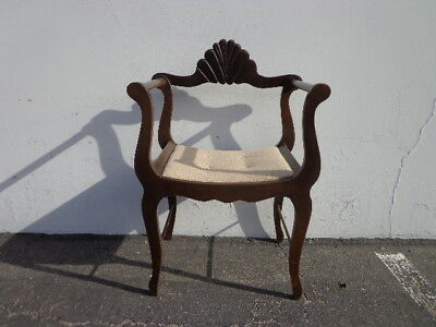Antique Chair Vintage Dante Savonarola X Base Armchair Rustic Tole Seating