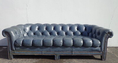Chesterfield Sofa Vintage Leather English Couch Loveseat Sleeper Vintage Seating