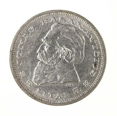 Raw 1936 Lithuania 5 Litas Uncertified Silver Lithuania Coin