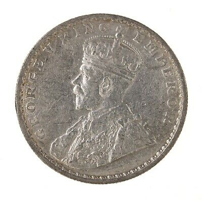Raw 1914 India 1R British Indian One Rupee Silver Coin