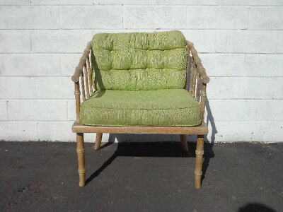 Bamboo Chair Armchair Chinese Chippendale Vintage Mid Century Modern Bohemian