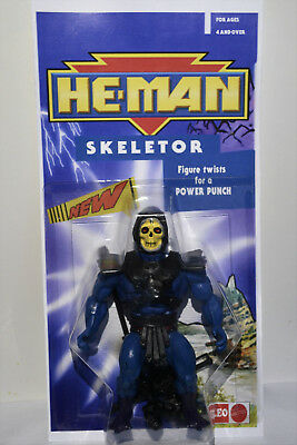"""Masters Of The Universe Leo Toys Skeletor """"india"""" Motu He Man In Blister On Card"""
