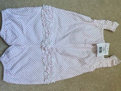 the little white company baby girl Summer Romper / baby grow NEW 6-9 Months