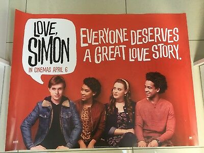 love simon quad movie poster d/s 30x40 in mint condition