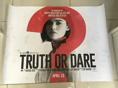 truth or dare quad movie poster d/s 30x40 in mint condition