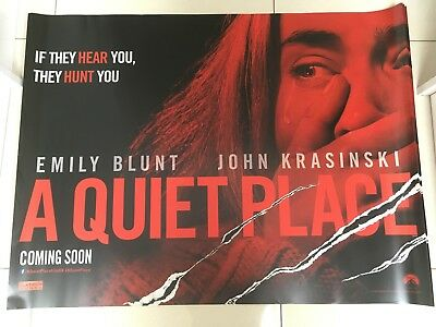 a quiet place quad movie poster d/s 30x40 in mint condition