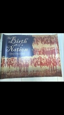 birth of a nation quad movie poster d/s 30x40 in mint condition