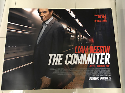the commuter liam neeson 2018 movie poster d/s 30x40 in mint condition