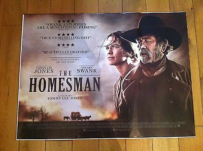 the homesman original quad movie poster d/s 30x40 in mint condition