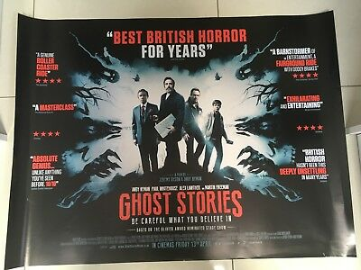 ghost stories quad movie poster d/s 30x40 in mint condition