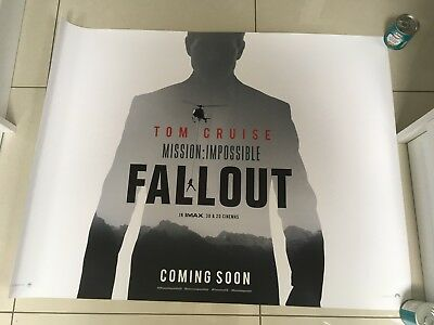 fallout mission impossible quad movie poster d/s 30x40 in mint condition