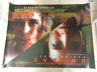 unsane quad movie poster d/s 30x40 in mint condition