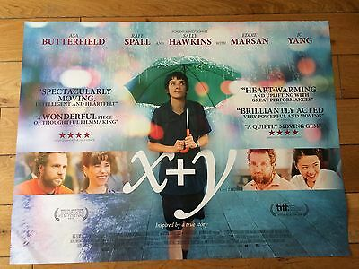 x + y quad movie poster d/s 30x40 in mint condition