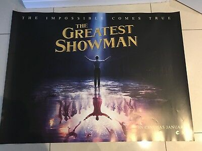 the greatest showman quad movie poster d/s 30x40 in mint condition