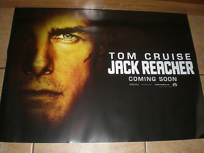 jack reacher original quad movie poster d/s 30x40 in mint condition