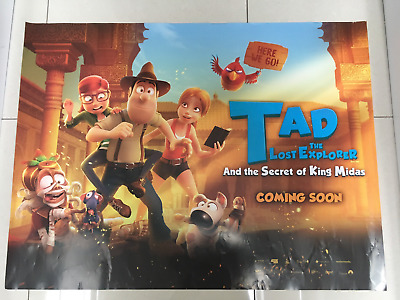 tad the explorer 2018 quad movie poster d/s 30x40 in mint condition