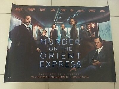 murder on the orient express 2017 quad movie poster d/s 30x40 in mint condition