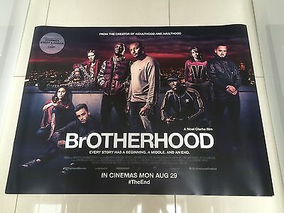 brotherhood quad movie poster d/s 30x40 in mint condition