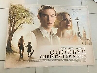 goodbye christopher robin quad movie poster d/s 30x40 in mint condition