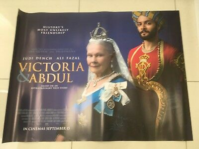 victoria and abdul quad movie poster d/s 30x40 in mint condition