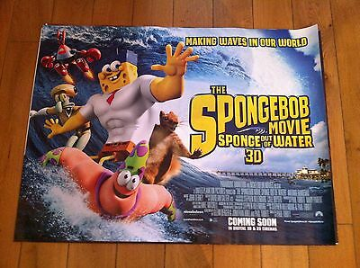 spongebob original quad movie poster d/s 30x40 in mint condition