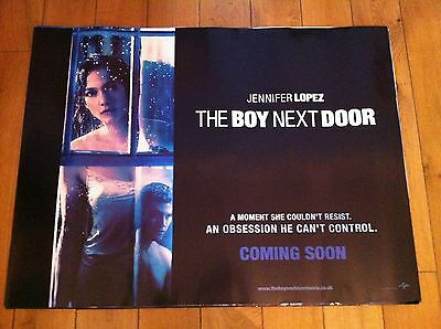 boy next door original quad movie poster d/s 30x40 in mint condition