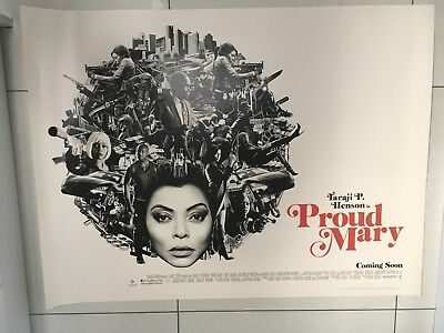 proud mary quad movie poster d/s 30x40 in mint condition
