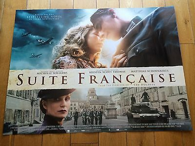 suite francaise original quad movie poster d/s 30x40 in mint condition