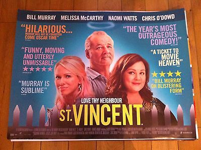st vincent original quad movie poster d/s 30x40 in mint condition