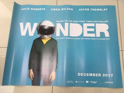 wonder quad movie poster d/s 30x40 in mint condition