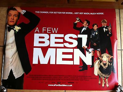 best men quad movie poster d/s 30x40 in mint condition
