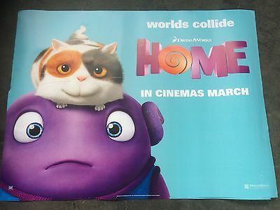 home animation quad movie poster d/s 30x40 in mint condition