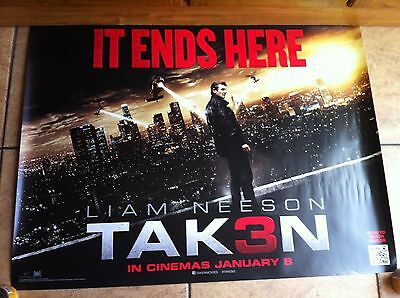 taken 3 original quad movie poster d/s 30x40 in mint condition
