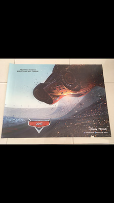 cars 3 teaser quad movie poster d/s 30x40 in good condition