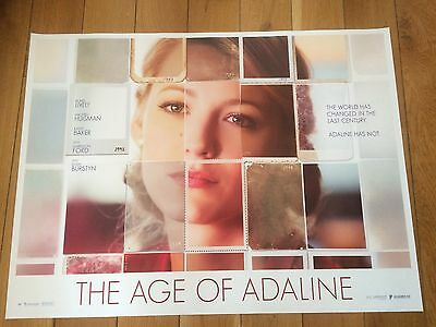 age of adaline quad movie poster d/s 30x40 in mint condition