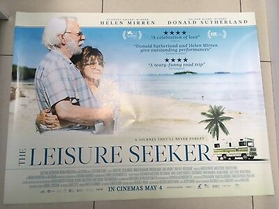 the leisure seeker quad movie poster d/s 30x40 in mint condition