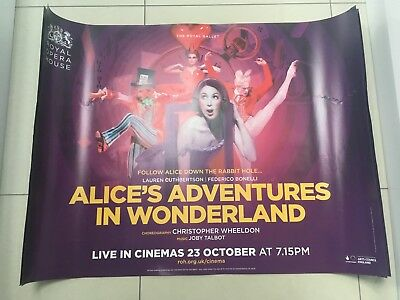 alice's adventures in wonderland quad movie poster d/s 30x40 in mint condition