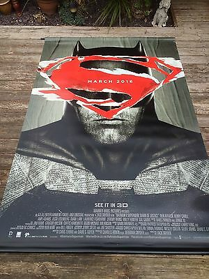 batman v superman vynil movie banner 8x5 foot in mint condition