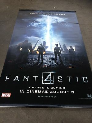 marvel fantastic 4 vynil movie banner 8x5 foot in mint condition