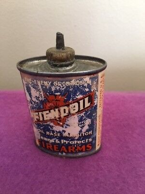 Vintage Hunting, FIENDOIL Can, small size 2 1/4 oz, RARE