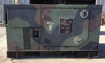 MEP-803A 10kw Diesel Generator Military 120/240 60HZ 1-3 Phases 1477 hours