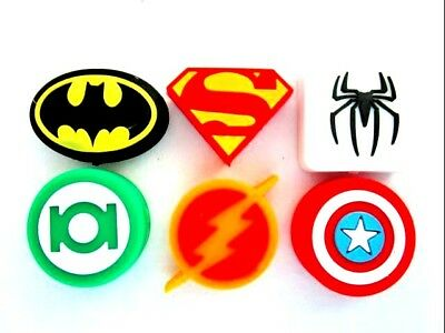 6 Super Hero Tennis Vibration Shock Absorber Dampeners Bat Captain Super Spider