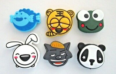 6 Cartoon Animals Tennis Vibration Shock Absorber Dampeners Frog Fish Panda