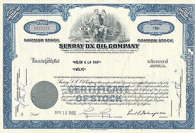 Sunray DX Oil Company NA-Aktie Öl, Exploration, USA New Jersey