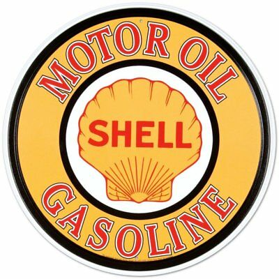 Shell Gasoline Motor Oil Retro Vintage Tin Sign - 12x12