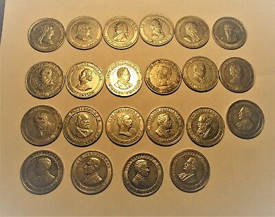 CRACKER JACK PRESIDENT SERIES COINS 1940's   22 DIFFERENT!!