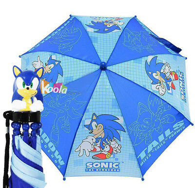 Sonic The Hodgehog Kids Umbrella with 3D Figure Handle (Tail, Knuckles, Shadow)
