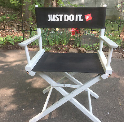 Nike Just Do It Vintage Director's Chair White Gold Medal Brand Local Pickup