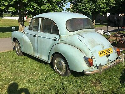 1970 Morris minor barnfind project with 50,000 miles px swap farm find