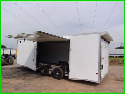 24 ft EZ hauler Aluminum enclosed toy car hauler trailer cargo motorcycle aluma